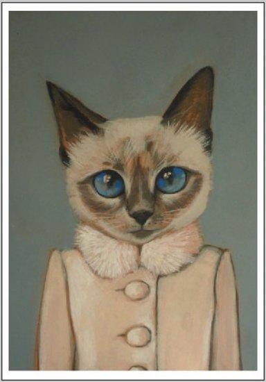 Нарисованные коты в одежде от художницы Heather Mattoon